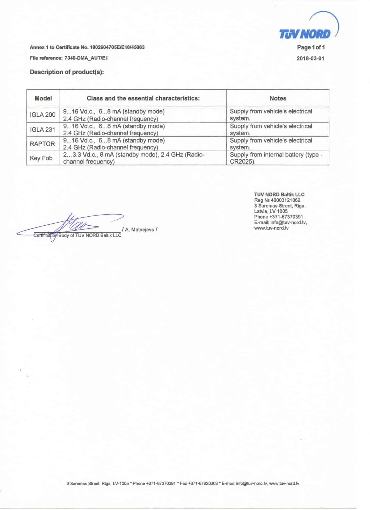 Medzinárodní Evropská certifikace stránka 2